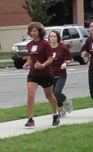 running at work