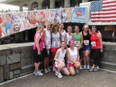 Back: Melissa, Amanda, me, Felice, Jen, Janis, Jen, Lisa; front: Bridget, Suzy (Bridget's FB photo)