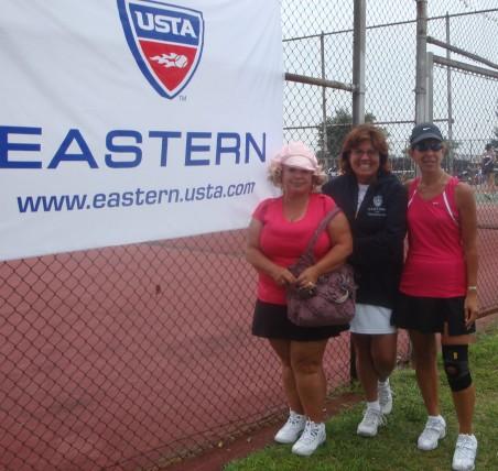 Susan, Catalina & me after our match