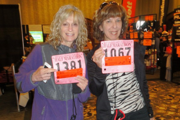 Ellen & I with our bibs
