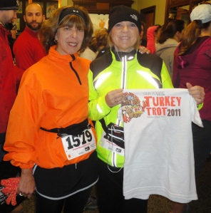 me & MaryPat at the Delmar Turkey Trot