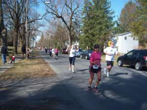 April - 5 mile race in my neighborhood