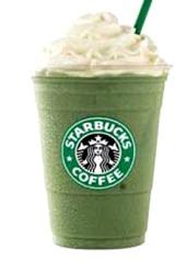 green tea frappuccino - yum!