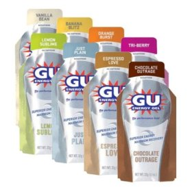 5 vanilla Gu & 5 chocolate Gu - my favorites