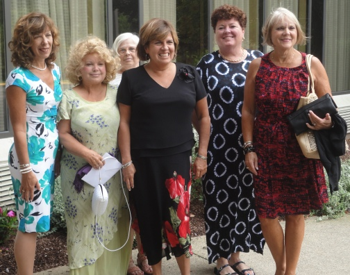 some of my tenis friends & me before the wedding