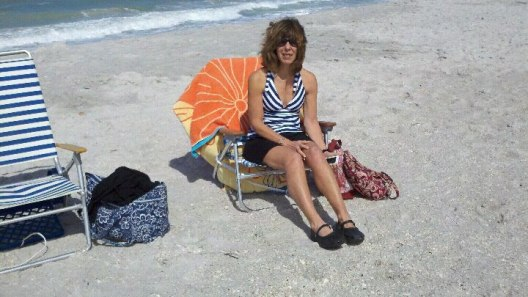relaxing in the sun at Boca Grande beach