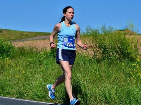 Colleen running her 1st marathon