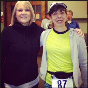 MaryPat & me before the race