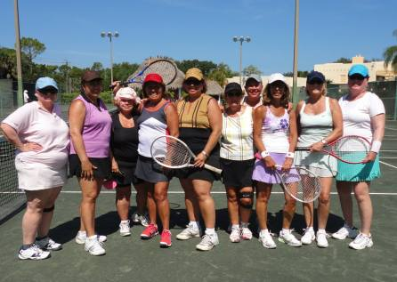 group photo on our last day of tennis lessons