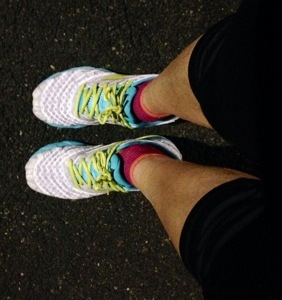 """running in the dark with my new """"white"""" shoes"""