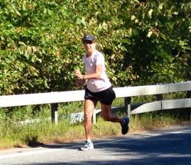 running along Schroon R