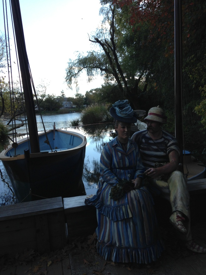 Sailing the Seine (based on Manet's Argenteuil)
