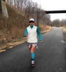 running on the rail trail