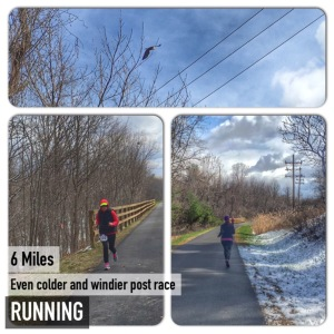 5 mile race + 6 = 11 miles