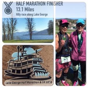 Lake George Half- 2:16:56 - 2nd in my AG