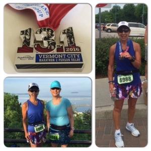 Vermont City Marathon Relay - a HOT unofficial 2:33:55