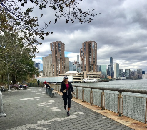 along the East River, NYC