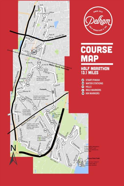 2017 PHM Half Marathon Course Map